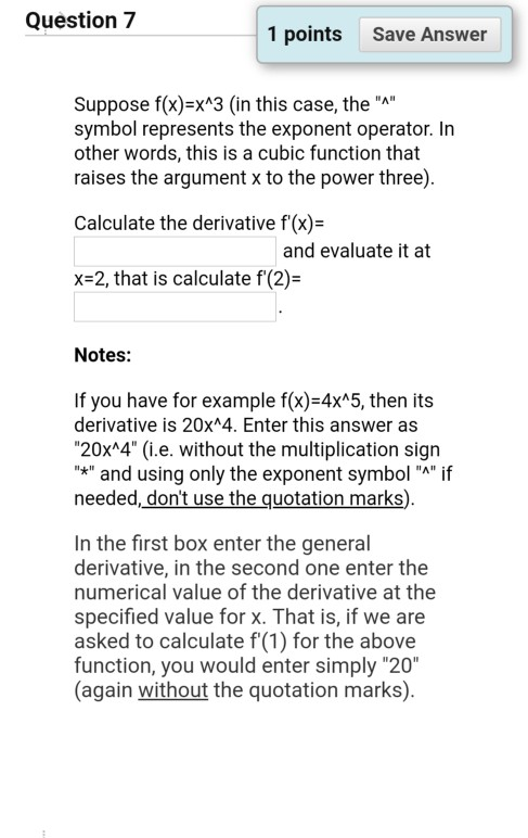 Solved Question 7 1 Points Save Answer Suppose Fx Xa3