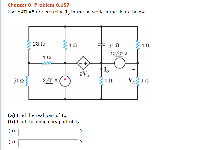 Solved: Chapter 8, Problem 8 157 Use MATLAB To Determine I