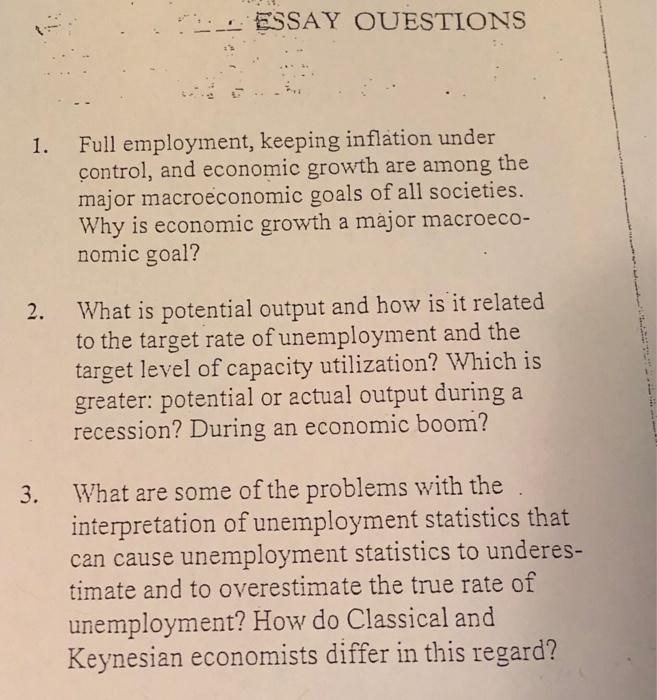 economic growth essay topics