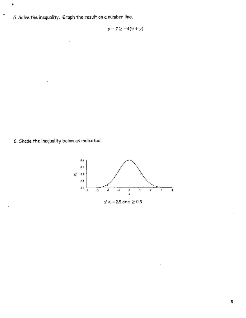 Solved: 5.) Solve The Inequality And Graph The Result. 6 ...