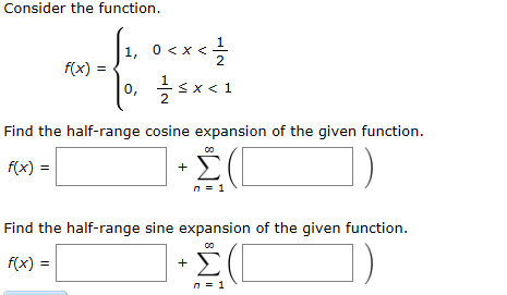 Solved: Consider The Function  2 F(x) 0, 2 Find The Half-r