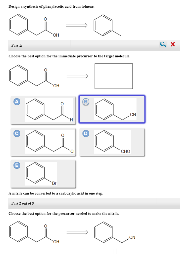 Solved: Design A Synthesis Of Phenylacetic Acid From Tolue