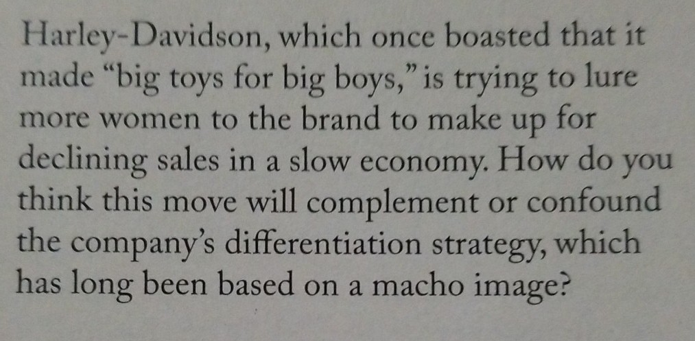 harley davidson differentiation strategy