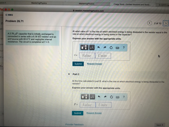 Solved: MasteringPhysics Chegg Study I Guided Solutions An