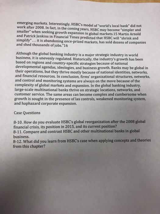 Hsbc Questions