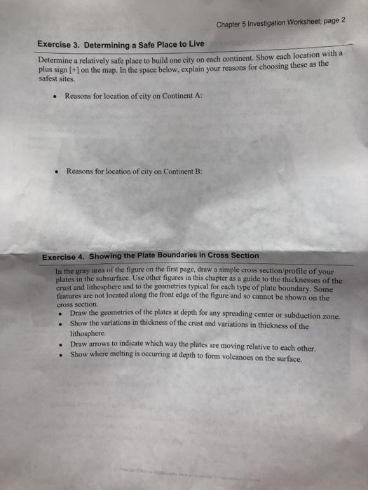 Solved: Worksheet Name Chapter 5 Investigation Exercise 1 ...