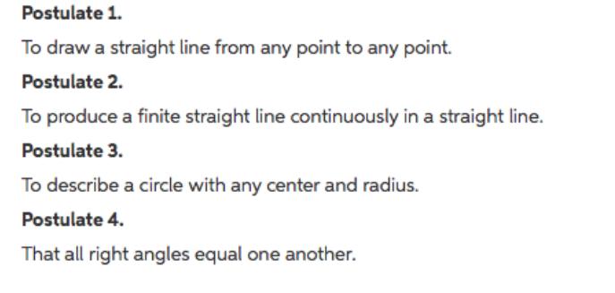Solved: Assume Euclid's Postulates 1-4  Find A Aw (i e  A