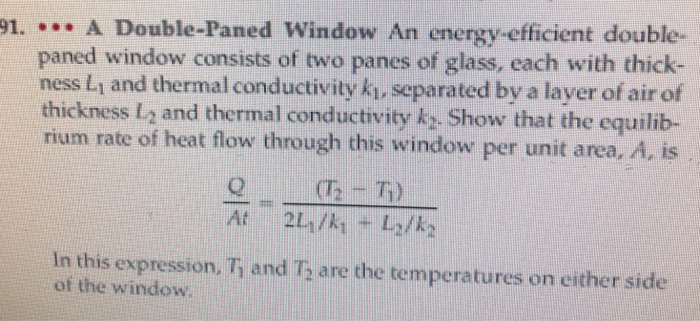 A Double Paned Window An Energy Efficient