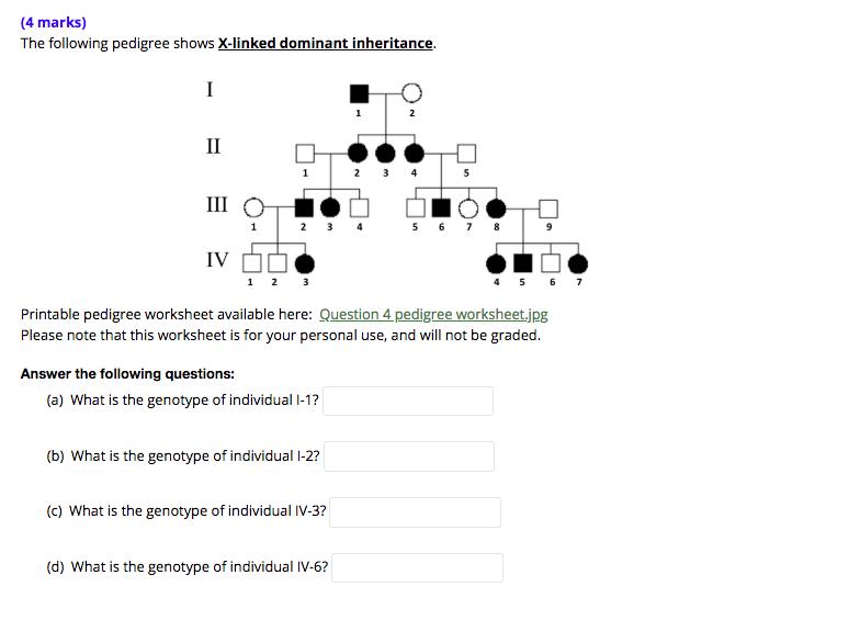Pedigree Worksheet Biology Answers - Worksheet List