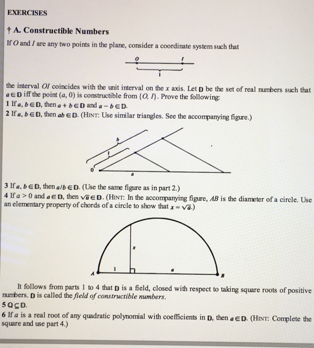 Solved G Further Properties Of Constructible Numbers And