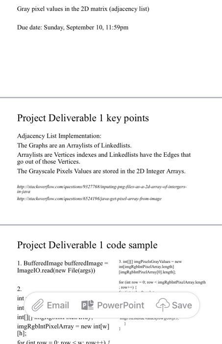 Solved: Gray Pixel Values In The 2D Matrix (adjacency List