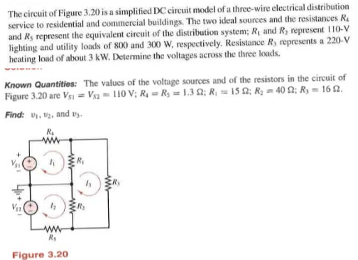 Fantastic Solved The Circuit Of Figure 3 20 Is A Simplified Dc Circ Wiring 101 Relewellnesstrialsorg