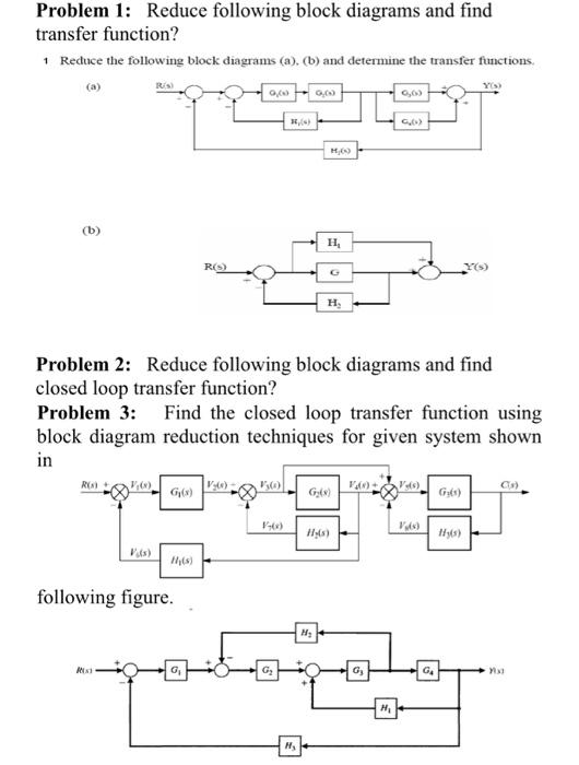 Solved  Problem 1  Reduce Following Block Diagrams And Fin