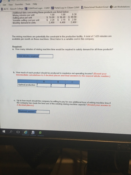 Solved: ρ   C E BONUS Homework Fle Edit View Favorites Too