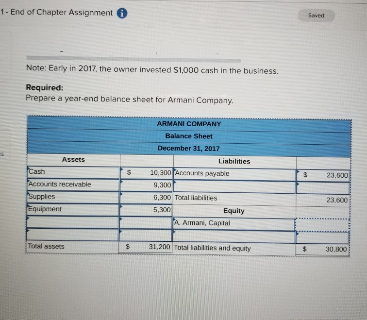 Solved: As Of December 31, 2017, Armani Company's Financia