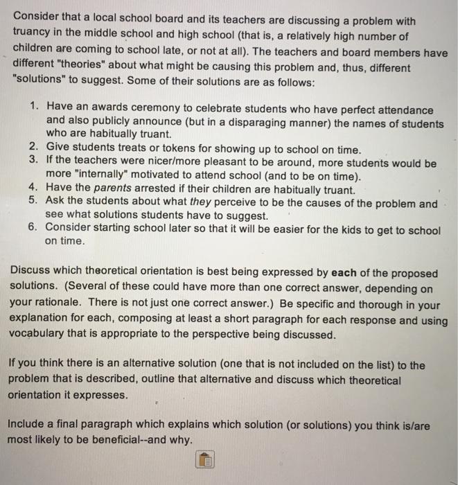 short paragraph about school