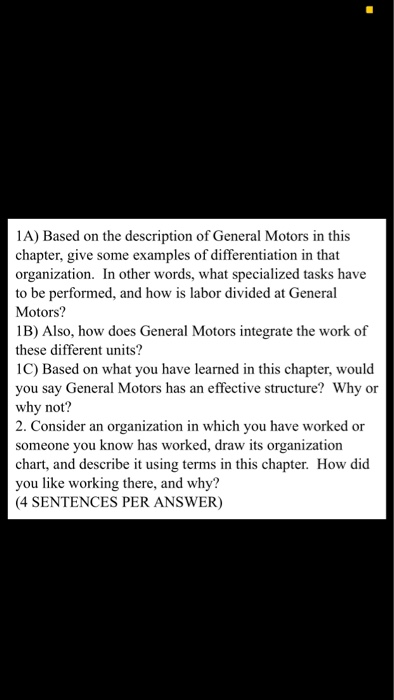 general motors management style