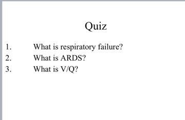 Solved Quiz What Is Respiratory Failure 1 2 What Is AR