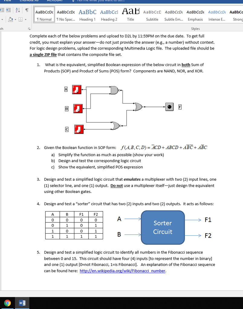 Solved Any Help With This Would Be Great We Are Using Mu Here Some Logic Gate Circuit Problems Question Multimedia To Build Our Circuits