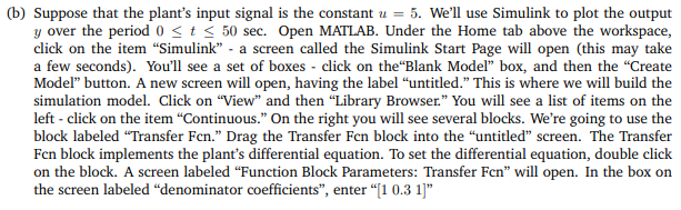 Solved: In This Problem We Will Use The Simulink Part Of M