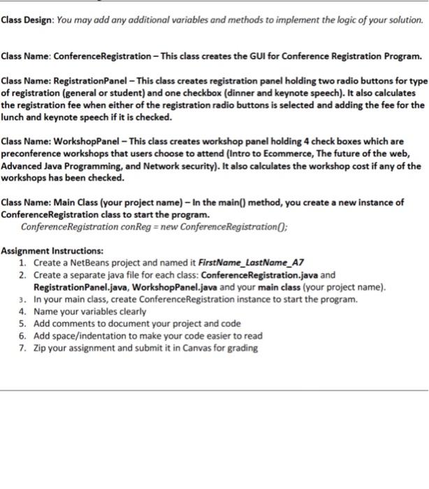 Solved: Conference Registration System- GUI Application Sp