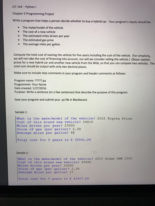 Solved: Write A Program That Helps A Person Decide Whether