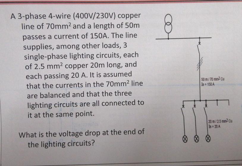 230v single phase wiring solved a 3 phase 4 wire  400v 230v  copper line of 70mm2  3 phase 4 wire  400v 230v  copper line