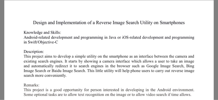 Solved: Design And Implementation Of A Reverse Image Searc