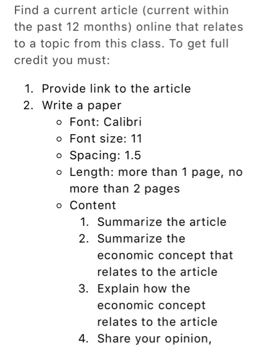 how to write summary of article