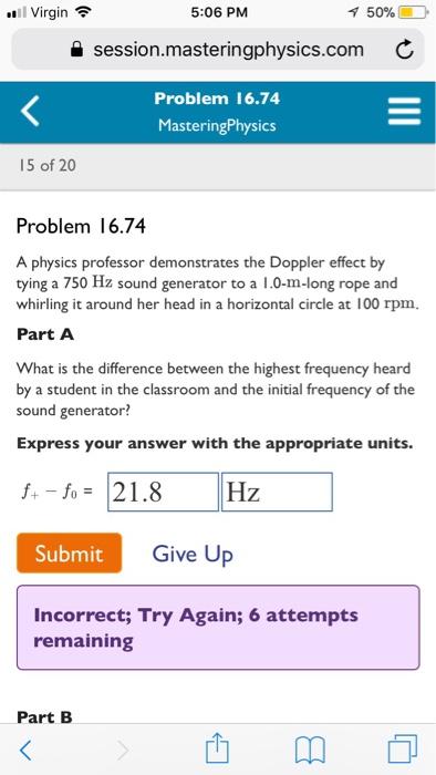 Solved: A Physics Professor Demonstrates The Doppler Effec