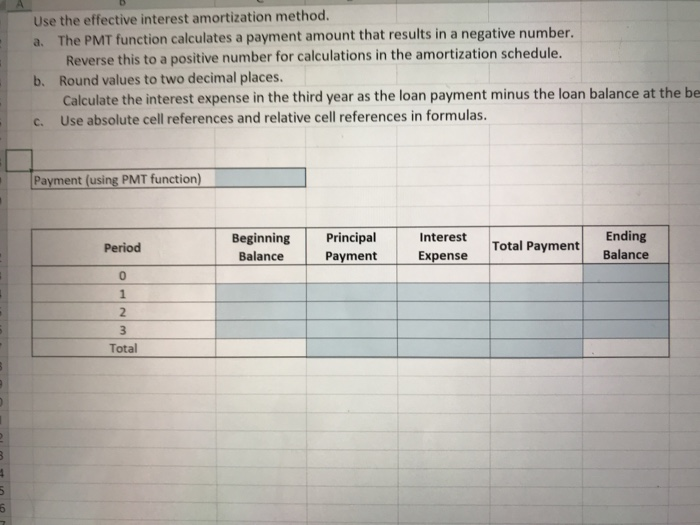 solved long term notes payable amortization schedule patr