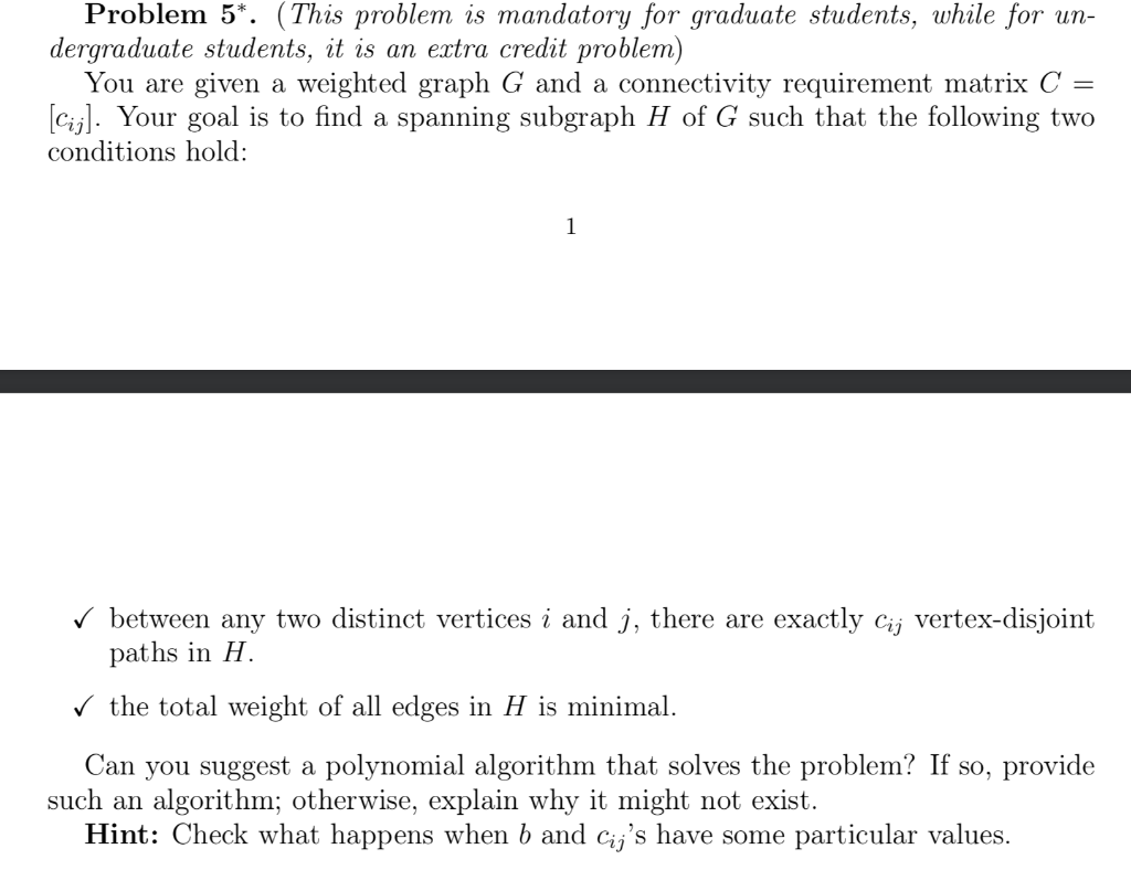 Problem 5*  (This Problem Is Mandatory For Graduat    | Chegg com