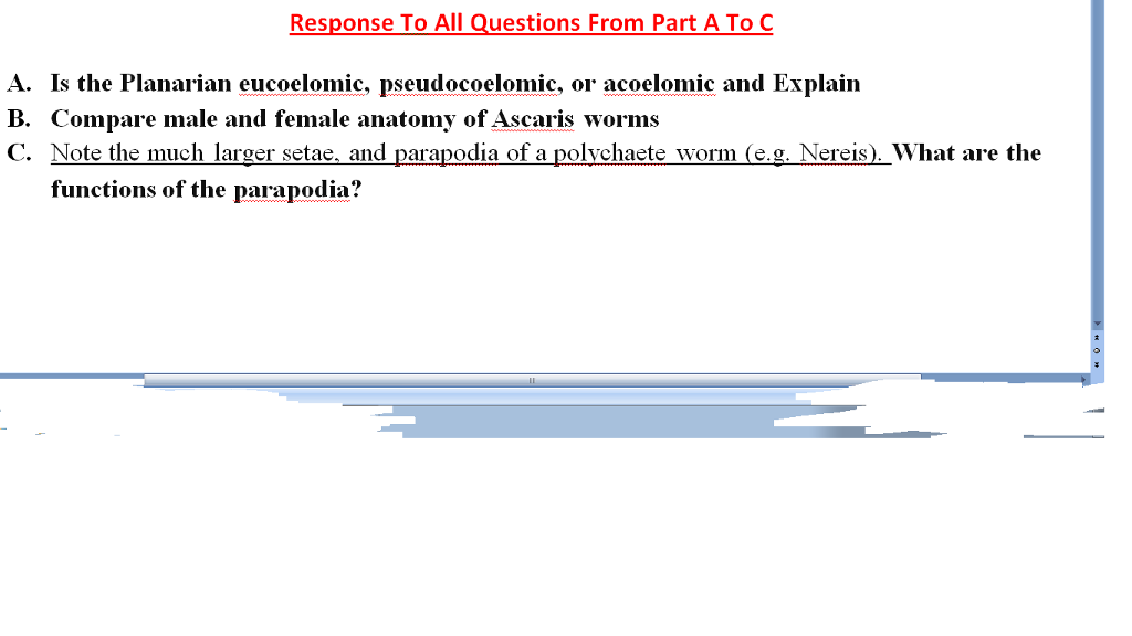 Solved: Response To All Questions From Part A To C A. Is T ...