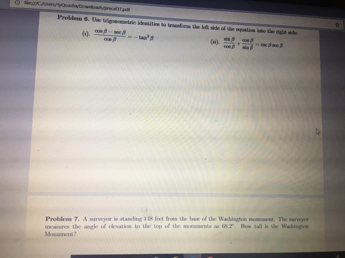 Solved: O FileJ//cjUsers/TyQuasha/ Ecal3T pdf Problem 6  U