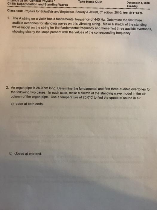 Solved: Take-Home Quiz Ysies 2bTo: General Physics 1 Ch18