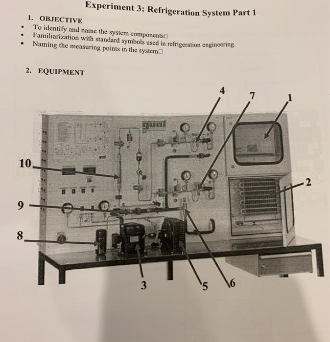 refrigeration components wiring diagram symbols solved experiment 3 refrigeration system part 1 1 objec  refrigeration system