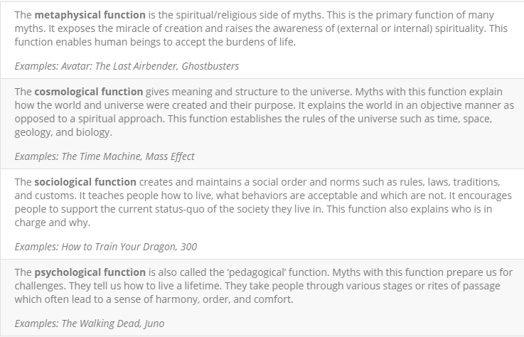 sociological function of myth