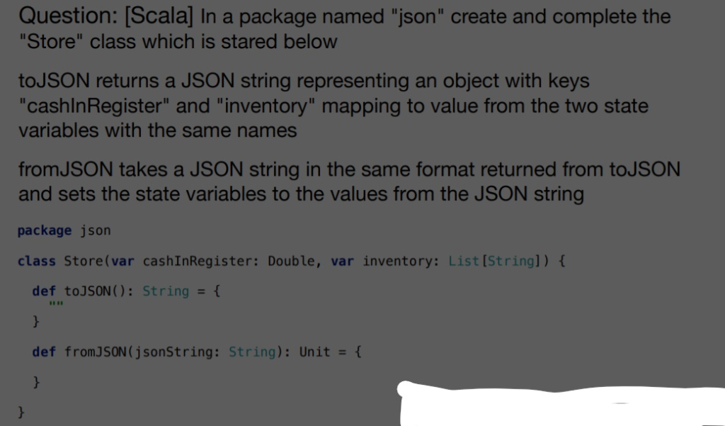 Question: [Scala] In A Package Named