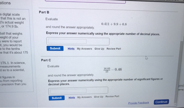 Solved Evaluate 0 411 9 9 0 8 And Round The Answer Ap Chegg Com