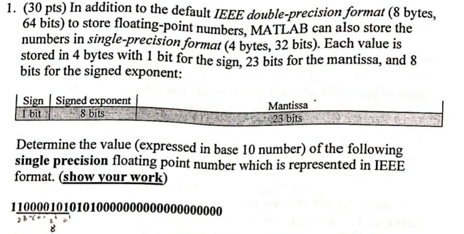 Solved: S) In Addition To The Default IEEE Double-precisi