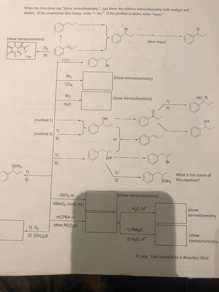 Solved: Organic Chemistry Help - I Need Help Filling Out T