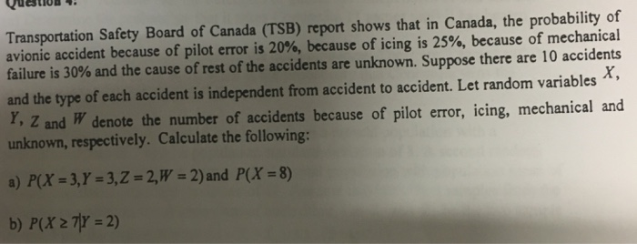 Solved: Transportation Safety Board Of Canada (TSB) Report