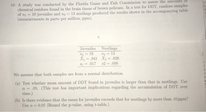 Solved: Amounts The Assess To Commission Fish 10  A Study