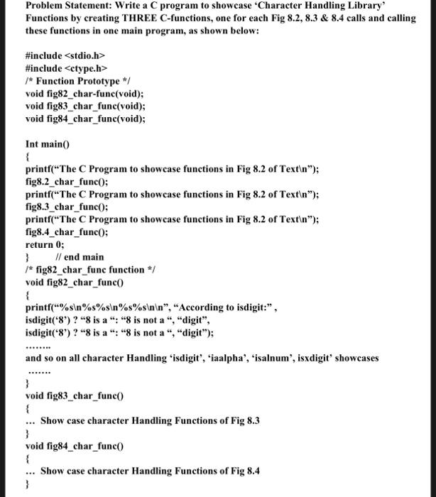 Solved: Finish C Program By Simply Demonstrating 8 2: Isdi