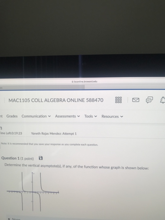 Solved Bconinebroward Edu Mac Coll Algebra Online   Bconinebroward Edu Mac Coll Algebra Online   T Grades  Communication Assessments  Tools