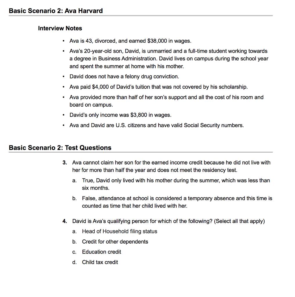 solved basic scenario 2 ava harvard interview notes ava