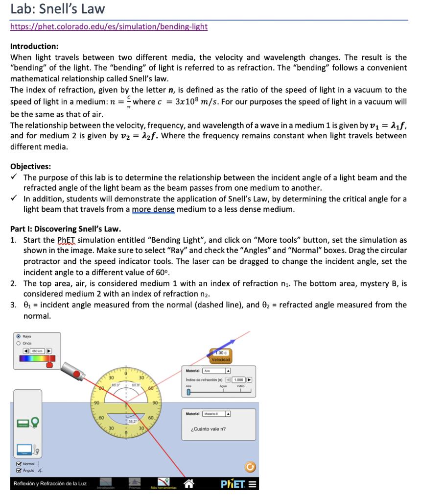 Phet Simulation Bending Light Worksheet Answers ...