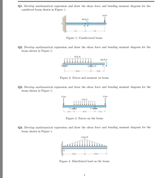 objective of bending moment exp