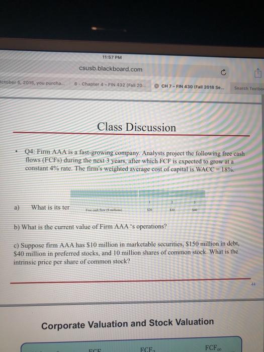 csusb fall 2018 class schedule