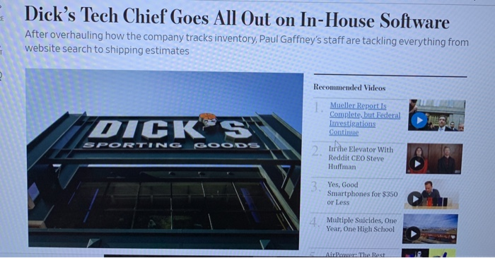Dick's Tech Chief Goes All Out On In-House Softwar